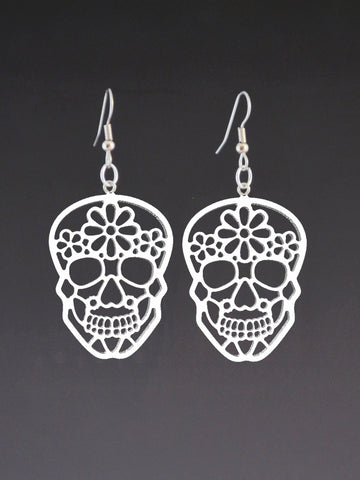 Sugar Skull Earrings- Day of the Dead- Dia de los Muertos