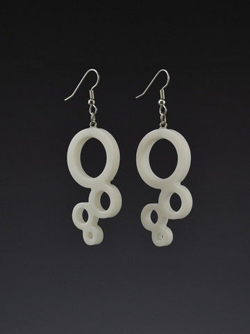 Bubble Large Corian Earrings
