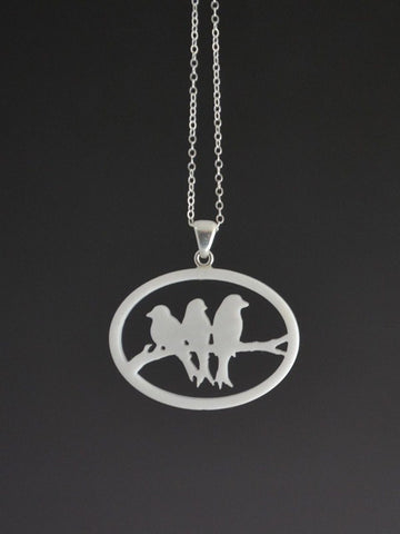 Birds on a Branch Pendant
