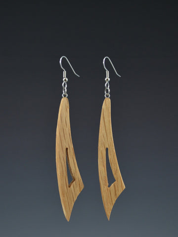 Curve Large Wood Earrings