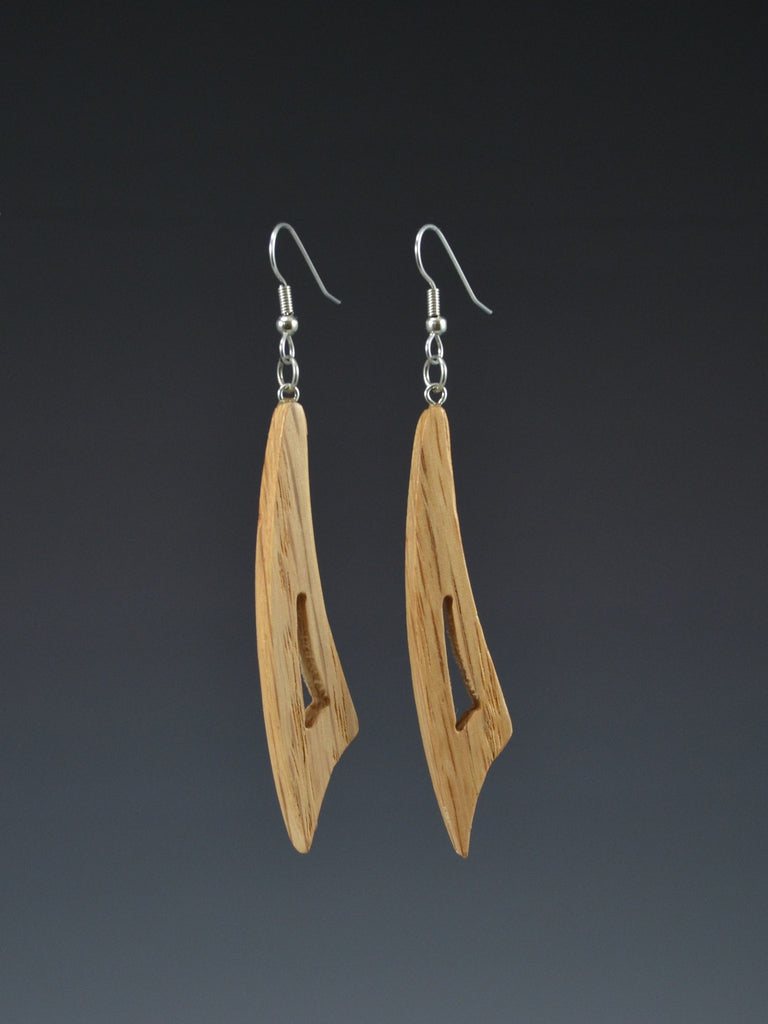 Curve Small Wood Earrings
