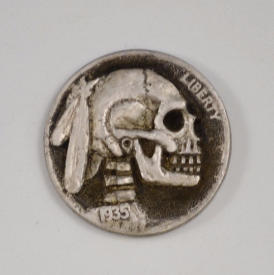 Skull Hobo Nickel no hair