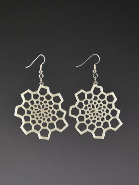 Fibonacci 1 Corian Earrings