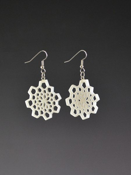 Fibonacci 1 small Corian Earrings