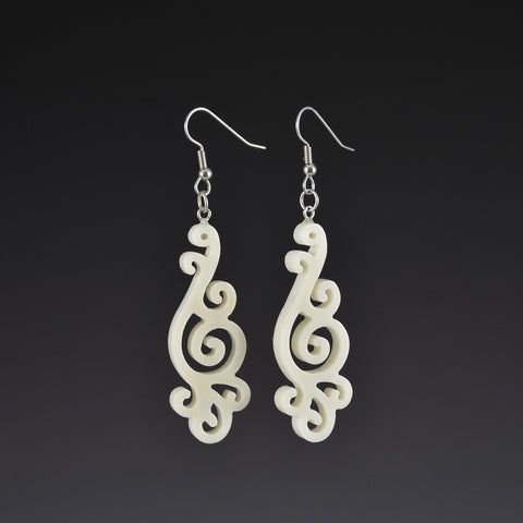 Filigree Earrings White