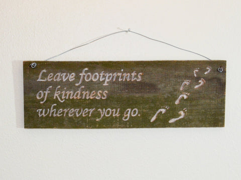Upcycled Fence - Footprints of kindness