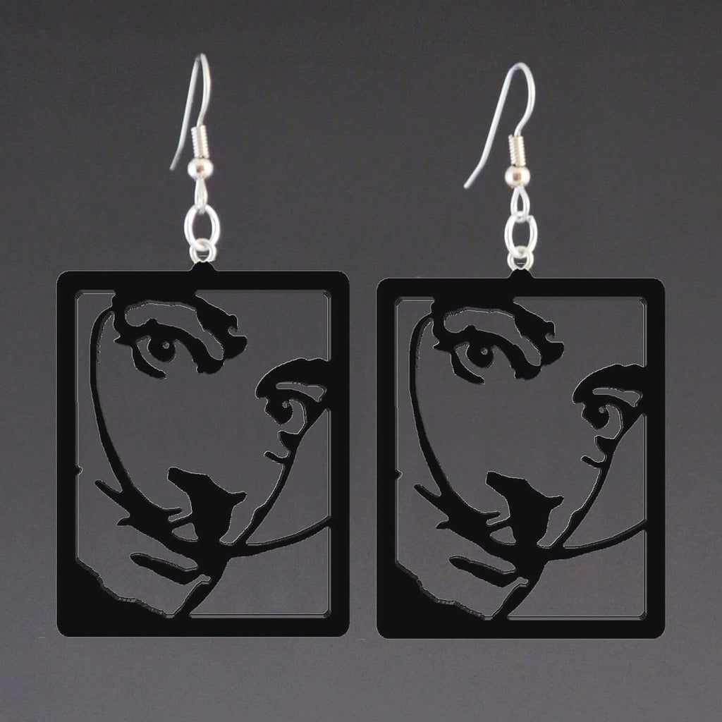 Salvador Dali corian earrings