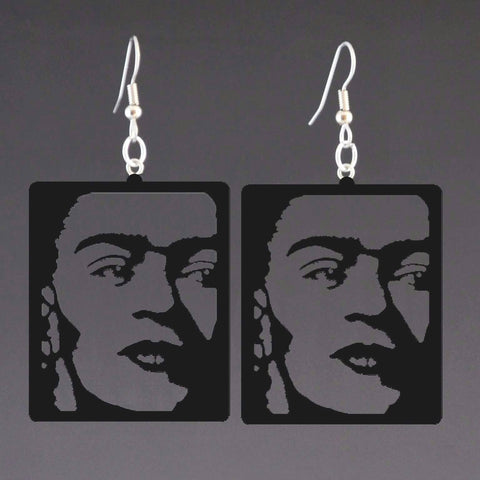 Frida Kahlo corian earrings