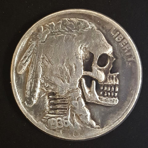 Skull Hobo Nickel