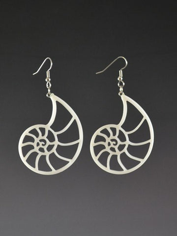 Fibonacci Nautilus Large Corian Earrings