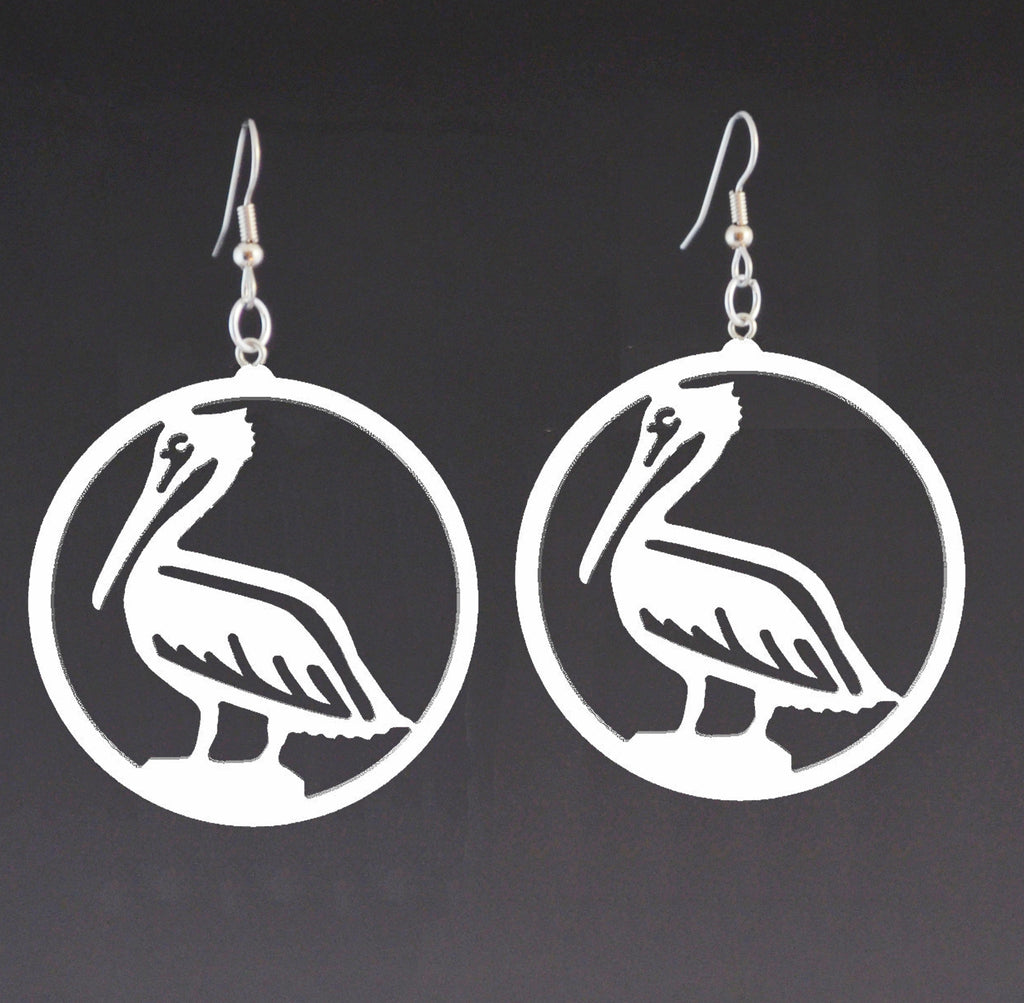 Pelican Recycled Countertop Earrings