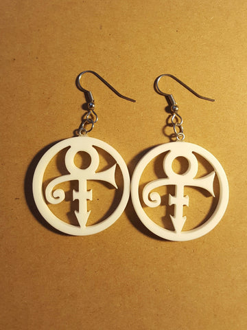 Prince Symbol Corian Earrings