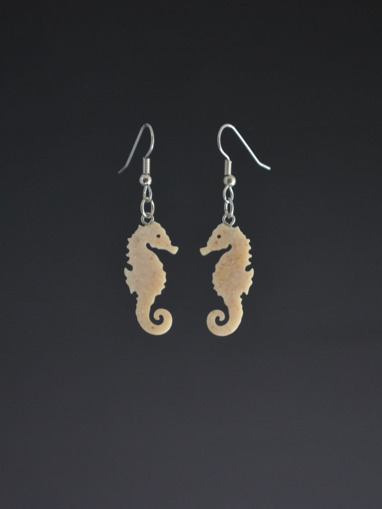 Seahorse Corian Earrings small