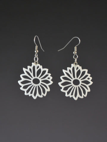 Small Daisy Corian Earrings