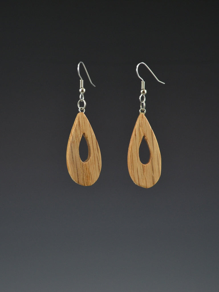 Teardrop Large Wood Earrings