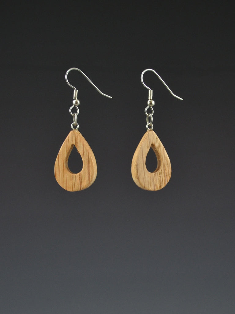 Teardrop Small Wood Earrings