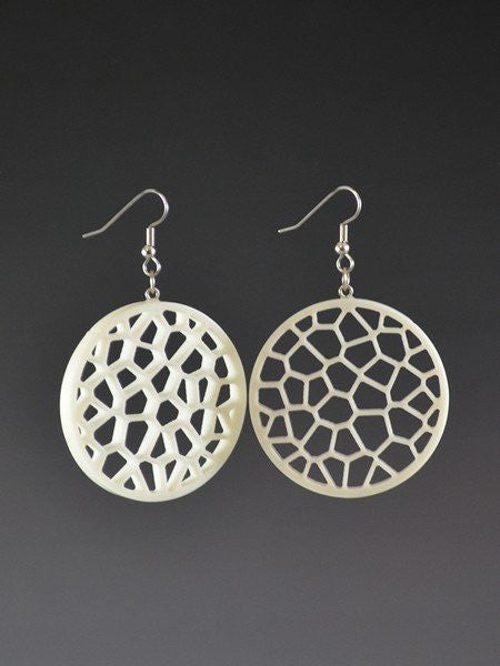 Voronoi Pattern  1  Corian Earrings