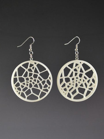 Voronoi Pattern  3  Corian Earrings