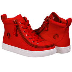 Red BILLY Footwear Kids Canvas Hightop
