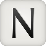 Nordstrom Department Store Logo black letter on grey rectangular background