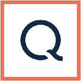 QVC Logo. Leads to BILLY Footwear available through qvc.com.