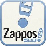 Zappos e-commerce Logo store title on light blue rectangular background