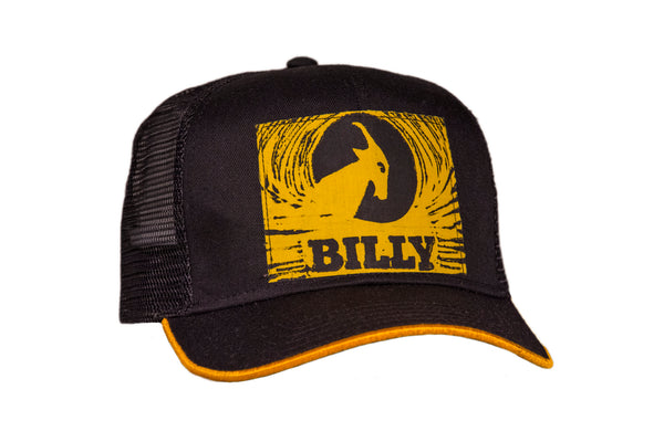 Trucker Hat - Yellow on Black