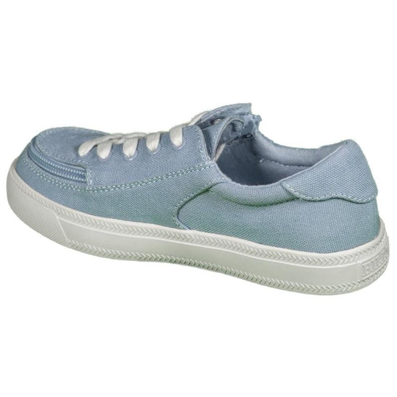 Kid's Light Blue BILLY Classic Lace Low, zipper, shoes, velcro, adaptive, accessible, afo, universal, kids, comfortable, BILLY Footwear