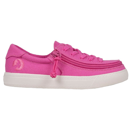 Kid's Pink Raspberry BILLY Classic Lace Lows, zipper, shoes, velcro, adaptive, accessible, afo, universal, kids, comfortable, BILLY Footwear