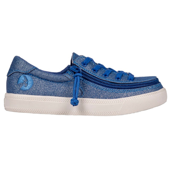 Kid's Beach Blue Lux BILLY Classic Lace Low, zipper, shoes, velcro, adaptive, accessible, afo, universal, kids, comfortable, BILLY Footwear