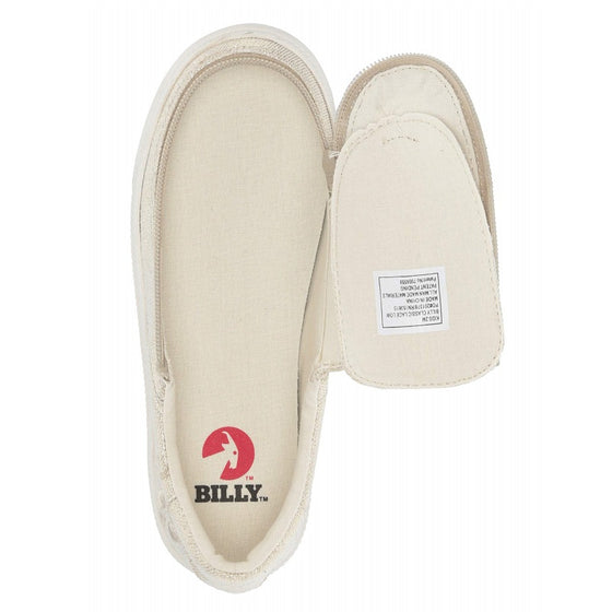 Kid's Natural Gold Lux BILLY Classic Lace Low, zipper, shoes, velcro, adaptive, accessible, afo, universal, kids, comfortable, BILLY Footwear