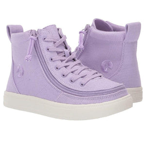Kid's Purple BILLY Classic Lace High, zipper, shoes, velcro, adaptive, accessible, afo, universal, kids, comfortable, BILLY Footwear