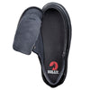 Kid's Black to the Floor Faux Leather BILLY Classic Lace Lows, zipper shoes, like velcro, that are adaptive, accessible, inclusive and use universal design to accommodate an afo. Footwear is medium and wide width, M, D and EEE, are comfortable, and come in toddler, kids, mens, and womens sizing.