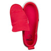 Kid's Red BILLY Classic Lace Highs, zipper shoes, like velcro, that are adaptive, accessible, inclusive and use universal design to accommodate an afo. Footwear is medium and wide width, M, D and EEE, are comfortable, and come in toddler, kids, mens, and womens sizing.