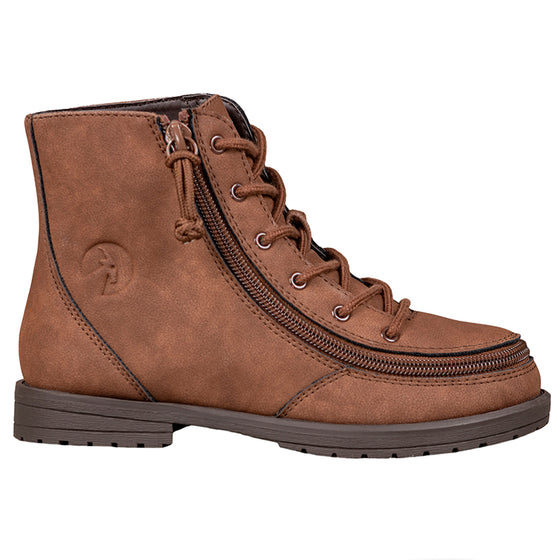 Kid's Brown BILLY Boot, zipper, shoes, velcro, adaptive, accessible, afo, universal, kids, comfortable, BILLY Footwear