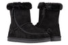 Kid's Black BILLY Cozy Boots, zipper shoes, like velcro, that are adaptive, accessible, inclusive and use universal design to accommodate an afo. Footwear is medium and wide width, M, D and EEE, are comfortable, and come in toddler, kids, mens, and womens sizing.