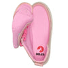 Kid's Heather Pink BILLY Classic Lace Highs, zipper shoes, like velcro, that are adaptive, accessible, inclusive and use universal design to accommodate an afo. Footwear is medium and wide width, M, D and EEE, are comfortable, and come in toddler, kids, mens, and womens sizing.