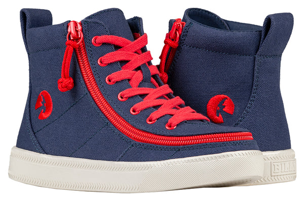 Kid's Navy/Red BILLY Classic Lace Highs