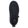 Kid's Black to the Floor BILLY Classic WDR High Tops, zipper shoes, like velcro, that are adaptive, accessible, inclusive and use universal design to accommodate an afo. Footwear is medium and wide width, M, D and EEE, are comfortable, and come in toddler, kids, mens, and womens sizing.