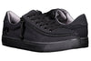 Men's Black to the Floor BILLY Classic Lace Lows, zipper shoes, like velcro, that are adaptive, accessible, inclusive and use universal design to accommodate an afo. Footwear is medium and wide width, M, D and EEE, are comfortable, and come in toddler, kids, mens, and womens sizing.
