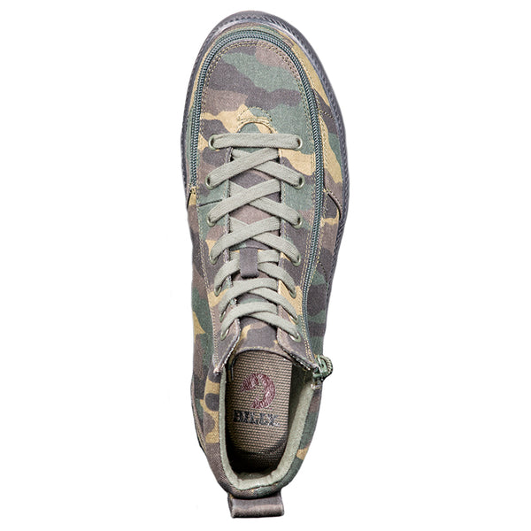 Men's Green Camo BILLY Classic Lace High, zipper, shoes, velcro, adaptive, accessible, afo, universal, kids, comfortable, BILLY Footwear