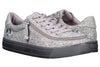 Men's Charcoal Jersey BILLY Classic Lace Lows, zipper shoes, like velcro, that are adaptive, accessible, inclusive and use universal design to accommodate an afo. Footwear is medium and wide width, M, D and EEE, are comfortable, and come in toddler, kids, mens, and womens sizing.