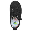 Toddler Black to the Floor Arthur BILLY Classic Lace Highs, zipper shoes, like velcro, that are adaptive, accessible, inclusive and use universal design to accommodate an afo. Footwear is medium and wide width, M, D and EEE, are comfortable, and come in toddler, kids, mens, and womens sizing.