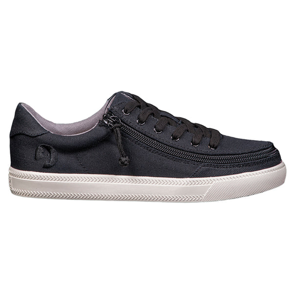 Women's Black BILLY Classic Lace Low, zipper, shoes, velcro, adaptive, accessible, afo, universal, kids, comfortable, BILLY Footwear