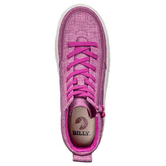 Women's Berry Jersey BILLY Classic Lace High, zipper, shoes, velcro, adaptive, accessible, afo, universal, kids, comfortable, BILLY Footwear