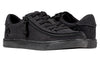 Women's Black to the Floor BILLY Classic Lace Lows, zipper shoes, like velcro, that are adaptive, accessible, inclusive and use universal design to accommodate an afo. Footwear is medium and wide width, M, D and EEE, are comfortable, and come in toddler, kids, mens, and womens sizing.