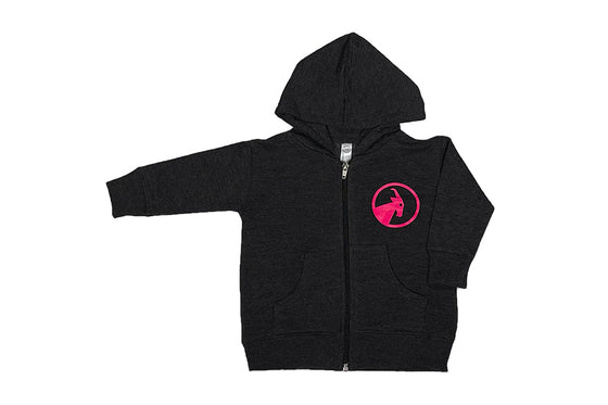 Toddler Charcoal and Pink BILLY Hooded Sweatshirt