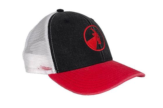 Kid's Black and Red BILLY Trucker Hat