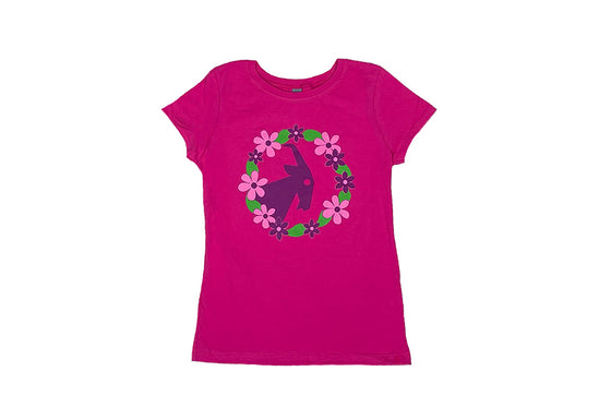 Kid's Pink BILLY Floral Fitted Tee