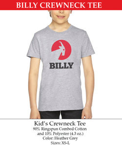 Kid's Crewneck Tee, zipper, shoes, velcro, adaptive, accessible, afo, universal, kids, comfortable, BILLY Footwear